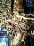 Chinese Dragon Carving Column Stock Images