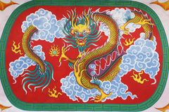 Chinese dragon at ceiling in Chinese temple Royalty Free Stock Photos