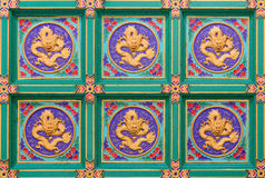 Chinese dragon ceiling Royalty Free Stock Images