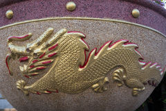 Chinese Dragon on ceramic. This is a picture of chinese dragon texture on ceramic jar Royalty Free Stock Images