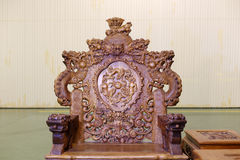 Chinese dragon chair Royalty Free Stock Photo