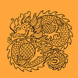 Chinese dragon character Royalty Free Stock Images