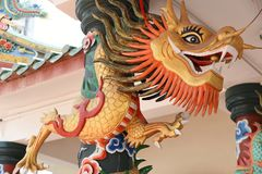 Chinese Dragon. On chinese temple royalty free stock images