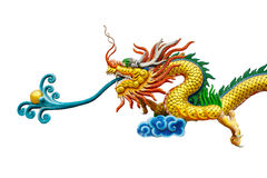 Dragon Chinese white background Royalty Free Stock Photos