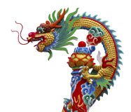 Chinese dragon. Colorful of chinese dragon statue Stock Photography
