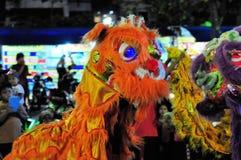 Chinese Dragon Costumes, Yogyakarta city festival Stock Photos