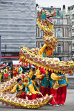 Chinese Dragon dance Royalty Free Stock Photos