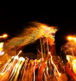 Chinese dragon dance Royalty Free Stock Images