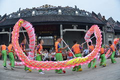 Chinese dragon dance Royalty Free Stock Image