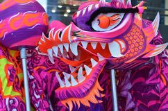 Chinese dragon dance Stock Images