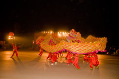 The Chinese dragon dance Royalty Free Stock Images
