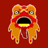 Chinese Dragon Dance  illustration. For greeting chinese new year, card or web design etc Stock Photography