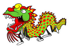 Chinese Dragon Dancers Royalty Free Stock Photos