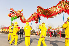 Chinese dragon dancing Royalty Free Stock Photo