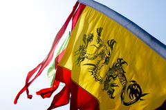 Chinese dragon flag. Stock Images