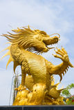 Chinese dragon. Gold Chinese dragon in Thailand Royalty Free Stock Photo