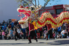 Chinese dragon during Golden Dragon Parede. Stock Photography