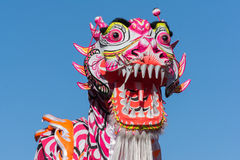 Chinese dragon during Golden Dragon Parede. Royalty Free Stock Image
