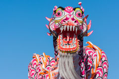 Chinese dragon during Golden Dragon Parede. Royalty Free Stock Photography