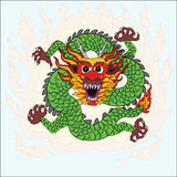 Chinese dragon hand draw art Royalty Free Stock Photo