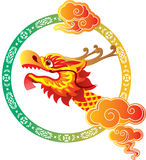 Chinese Dragon Head art design Royalty Free Stock Photos