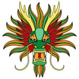 Chinese dragon head. Vecor illustration of chinese eastern calendar symbol, tattoo, textile print Stock Photography