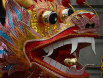 Chinese dragon head. On new year parade Royalty Free Stock Photos