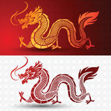 Chinese Dragon. Illustration of Traditional chinese Dragon ,vector illustration Stock Photos
