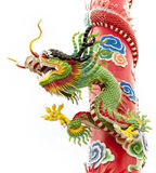 Chinese dragon image isolated. Chinese dragon symbol with white background Stock Image