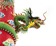 Chinese dragon image. Chinese dragon symbol with white background Royalty Free Stock Image
