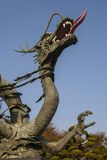 Chinese dragon iron statue. Year of the dragon. Close-up view of a chinese dragon statue Royalty Free Stock Photography