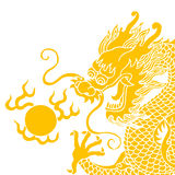 Chinese dragon. Isolated on white background Stock Photography