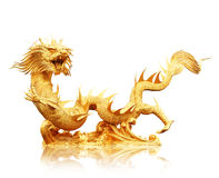 Chinese dragon isolated on white with clipping path. Stock Photo