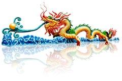 Chinese dragon. On isolation background Stock Photos