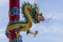 Chinese dragon. At Koh Loi,Thailand Royalty Free Stock Photography