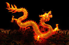 Chinese dragon lantern. Over black background stock photo