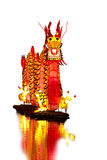 Chinese Dragon Lantern in pond Royalty Free Stock Images