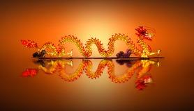 Chinese Dragon Lantern on pond Royalty Free Stock Photo