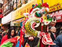Chinese Dragon. At Lunar New Year celebration in Chinatown, New York Royalty Free Stock Images