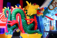Chinese dragon made by ice Royalty Free Stock Photos