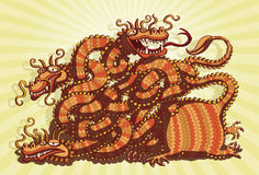 Chinese Dragon Maze Game Royalty Free Stock Image