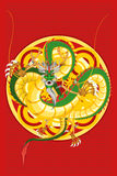 Chinese Dragon New Year. An Illustration Of Chinese Dragon New Year Royalty Free Stock Image