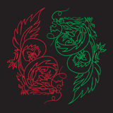 Chinese Dragon Oriental Feng Shui Royalty Free Stock Photography