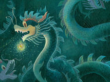 chinese Dragon painting royalty free stock photos