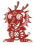 Chinese dragon paper cut Royalty Free Stock Image