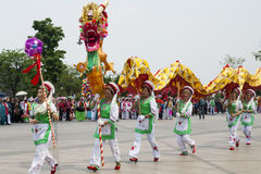 Chinese Dragon Parade Royalty Free Stock Image