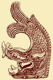 Chinese Dragon Pattern. Vector of Ancient Chinese Dragon Pattern Royalty Free Stock Image