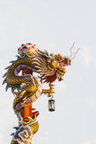 Chinese Dragon. This photo are Chinese Dragon taken at Chinese temple in Thailand Stock Photos