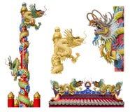 Chinese dragon on the ploe Stock Photos