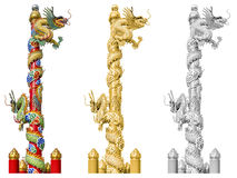 Chinese dragon on the ploe Royalty Free Stock Photography